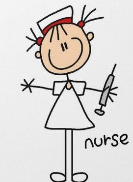 Stick-figure nurse