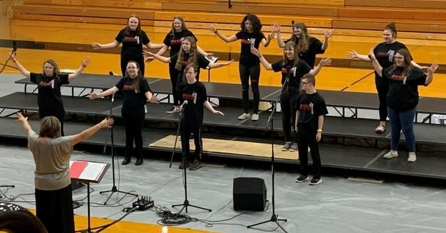 BJSHS choir performing in concert