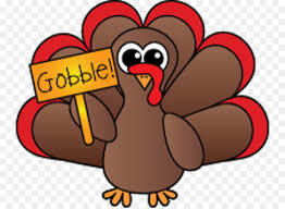 Turkey holding a gobble sign