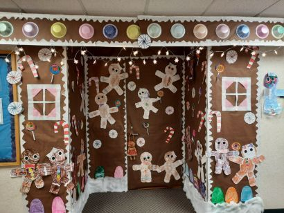 Ginger bread themed doorway