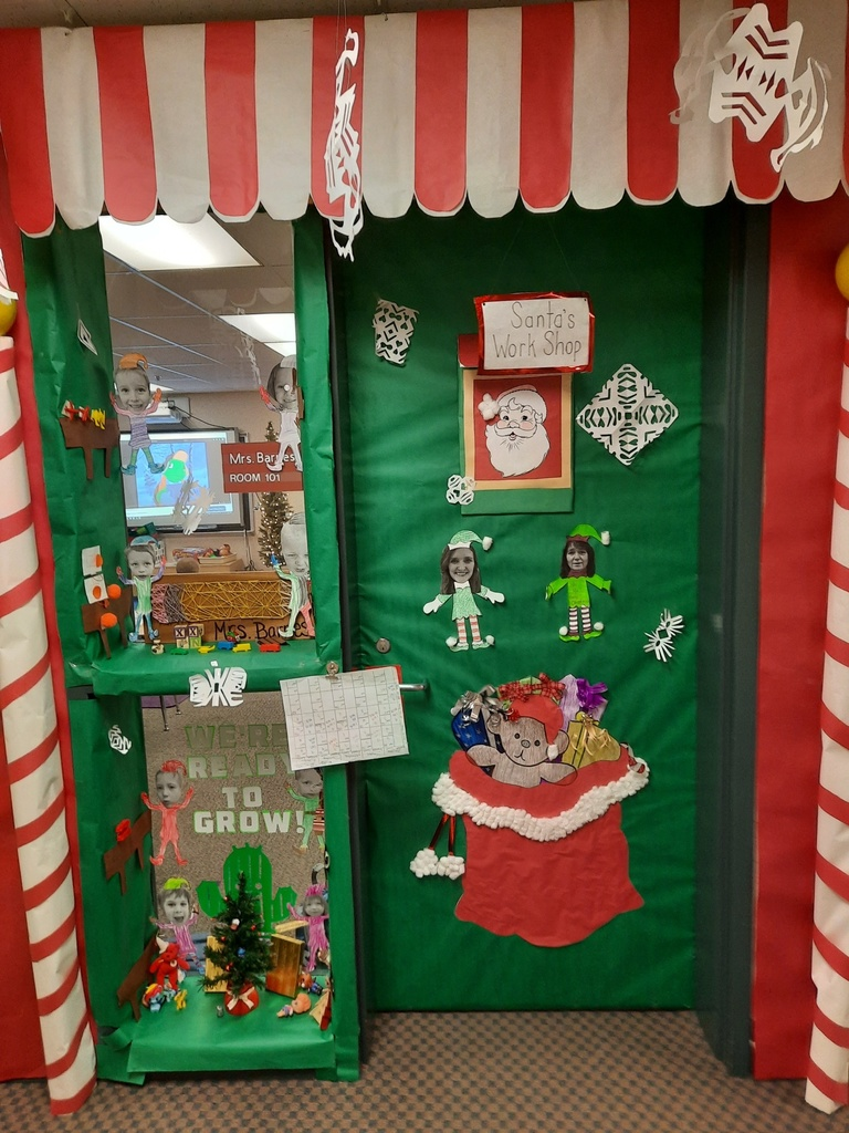 Elf-themed doorway