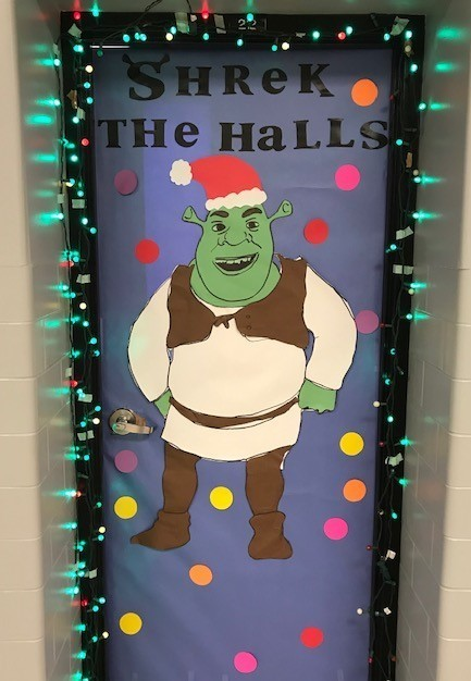 Shrek the Halls Door Dectorations