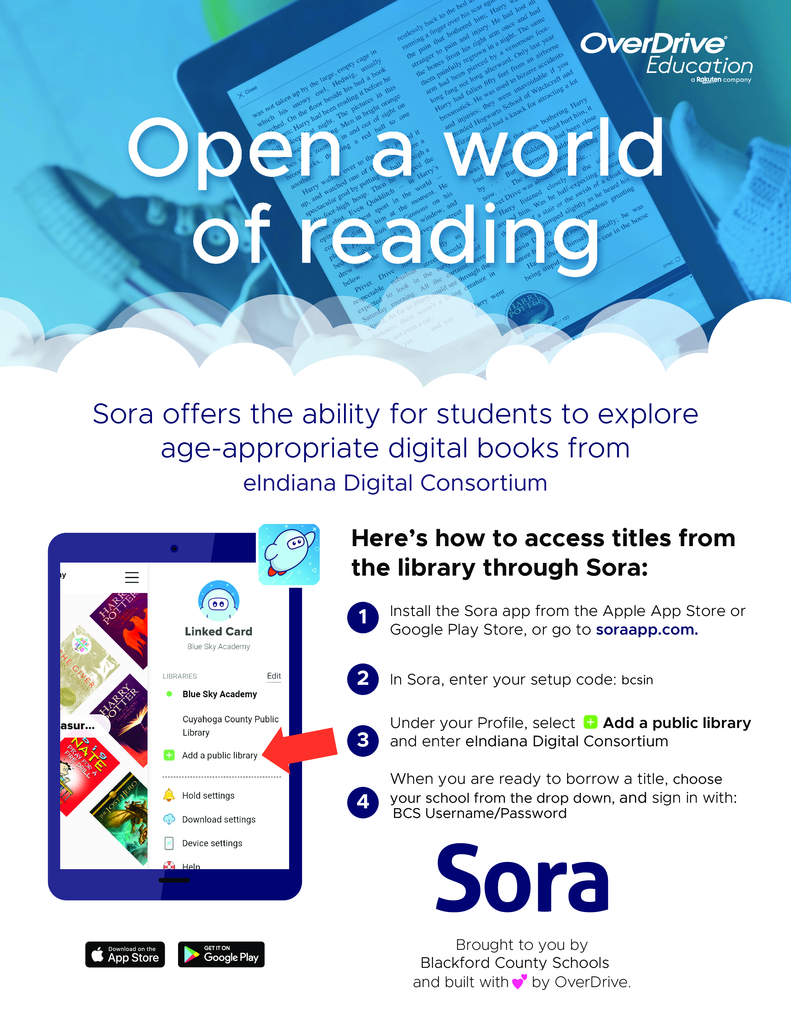 Directions for obtaining books through Sora