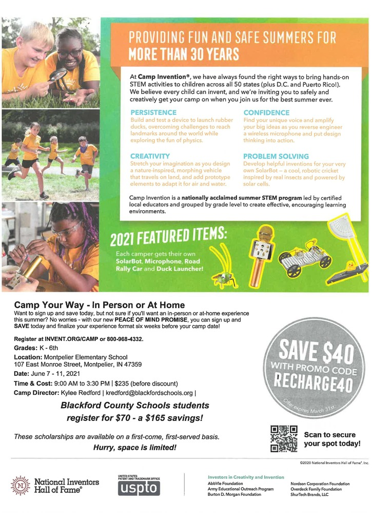 Camp Adventure flyer