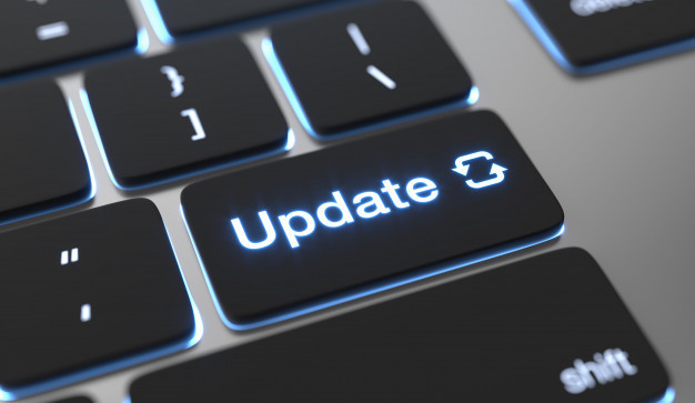 Computer key that says Update