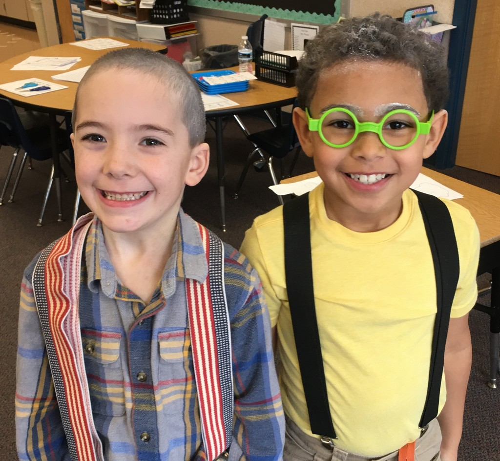 Two smiling kindergarten boys
