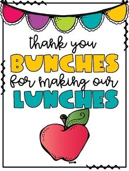 thank you card for making lunches
