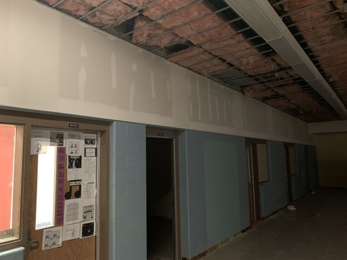 Band room under construction