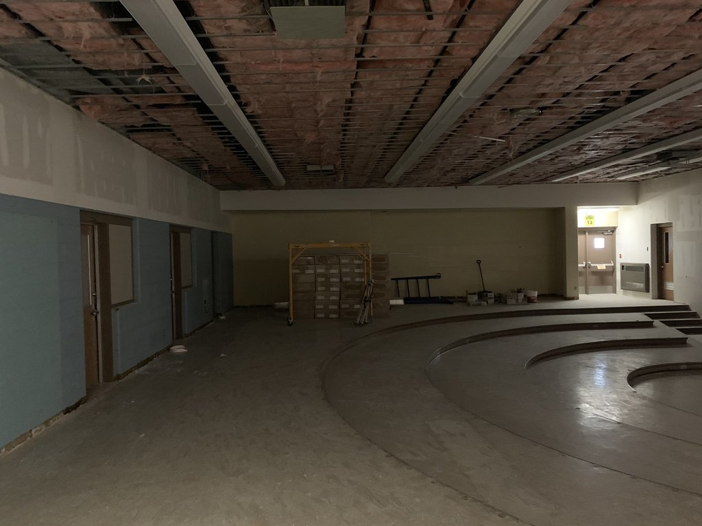 Another view of BJSHS bandroom construction
