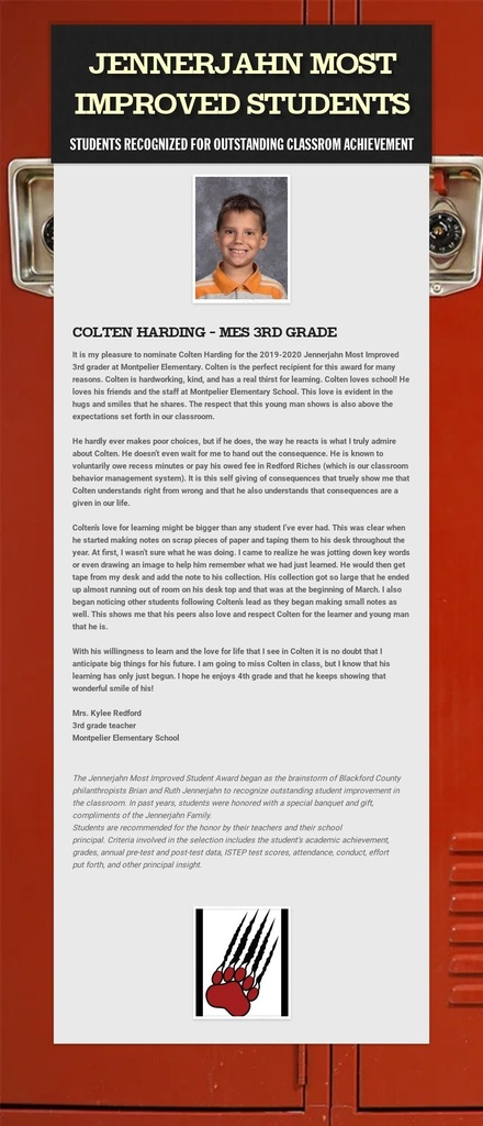 Photo and info of Colten Harding