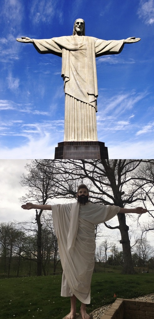 Student made up to be Christ the Redeemer