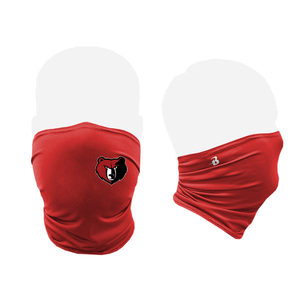Red mask and black mask